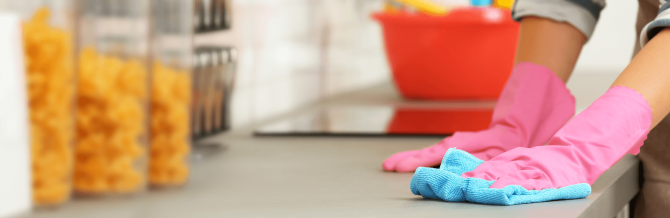 How does disinfecting help to protect your family from viral diseases?